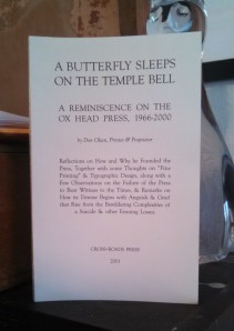A Butterfly Sleeps on the Temple Bell by Don Olsen