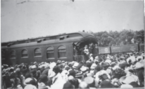 President Roosevelt in Willmar, MN. (KCHS Archives)