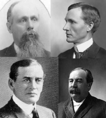 Minnesota governors David Clough John Lind Samuel Van Sant John Johnson