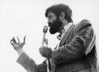 Garrison Keillor, 1979. University of Wisconsin River Falls Archives.