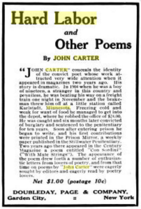 Hard Labor and Other Poems by John Carter - Country Life Magazine 1911