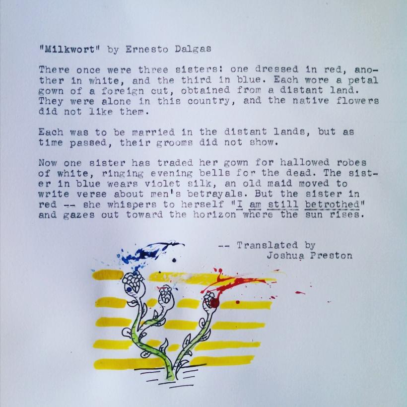 """""""Milkwort"""" by Ernesto Dalgas (trans. Joshua Preston)"""